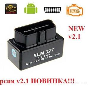 Новинка! Автомобильный сканер ELM327 V2.1 Bluetooth OBD2