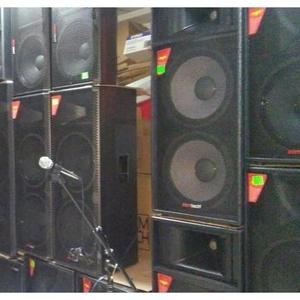 Большие музыкальные колонки с микшером и микрофонами,  супер звук пара