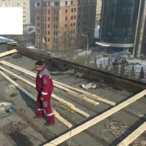 Ремонт крыши,  переделаем плоскую на двускатную в Алматы 328 98 20