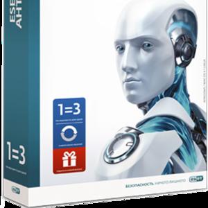 ESET NOD32 Антивирус - лицензия на 1 год на 3ПК или продление на 20 ме