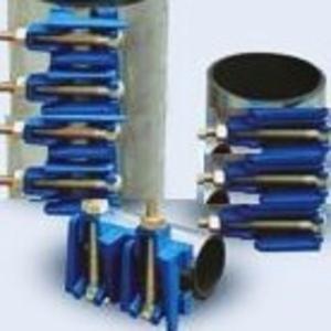 Ремонтный хомут нержавеющая сталь для ремонта труб водопровода Ду110