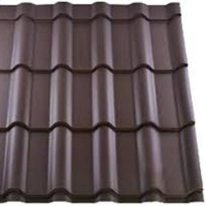 Металлочерепица - шоколад матовый