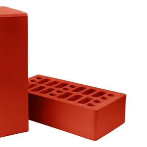 Керамический облицовочный кирпич красный