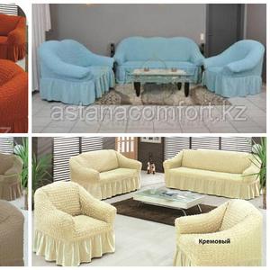 Натяжные еврочехлы для мягкой мебели