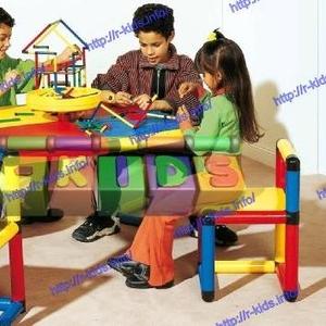 R-KIDS: Детский игровой стол и 4 вращающихся стула KDM-002