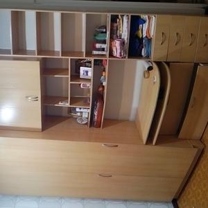 Мебельный шкаф 2-х ярусный с антресолью и рабочим столом