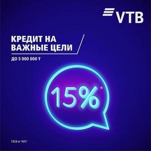 Ограниченная акция  по кредитованию от  Банка ВТБ