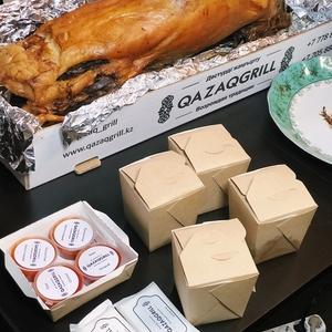 Запеченное мясо ягненка,  семги и индейки   Бесплатная доставка